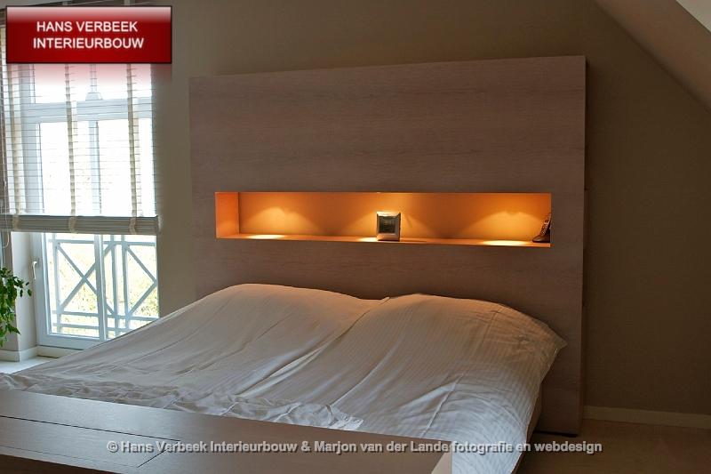 achterwand bed met uitsparing en ingebouwde verlichting hans, Meubels Ideeën